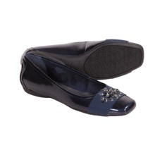 AK Anne Klein Ursuline Shoes - Flats (For Women) in Navy Multi Glossy - Closeouts