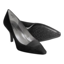 AK Anne Klein Winkins Pumps (For Women) in Black Suede - Closeouts