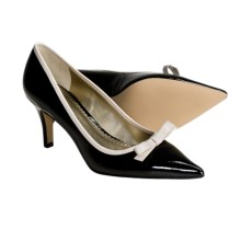AK Anne Klein Witney Patent Pumps (For Women) in Black Patent/Natural Calf - Closeouts