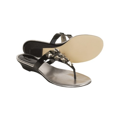 AK Anne Klein Zanetto Sandals (For Women) in Black