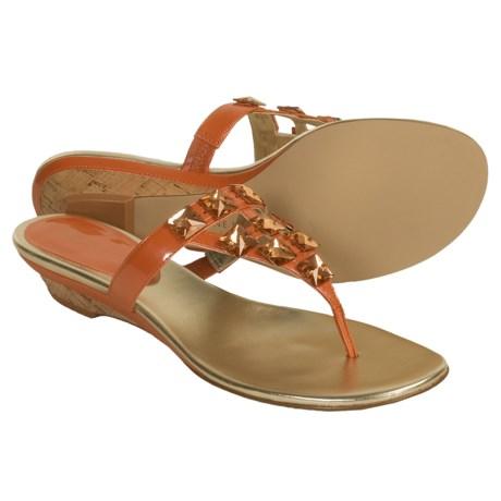AK Anne Klein Zanetto Sandals (For Women) in Orange