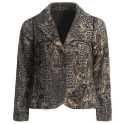 A.K.A. Woman Textured Paisley Jacket - Swing (For Women) in Black Multi