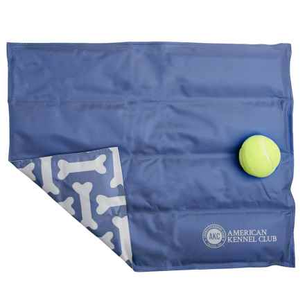 "AKC Bones Dog-Cooling Mat - Medium, 16x20"" in Blue - Closeouts"