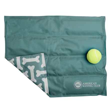 "AKC Bones Dog-Cooling Mat - Medium, 16x20"" in Green - Closeouts"