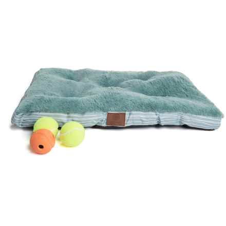 "AKC Brush Stripe Dog Crate Mat - 24x17"" in Light Blue - Closeouts"