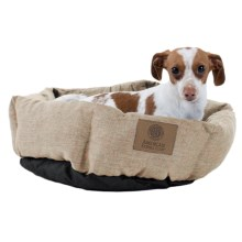 "AKC Burlap Cuddle Cup Dog Bed - 19"" Round in Tan - Closeouts"