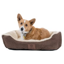 "AKC Burlap Cuddler Dog Bed - 28x20"" in Brown - Closeouts"