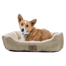 "AKC Burlap Cuddler Dog Bed - 28x20"" in Tan - Closeouts"