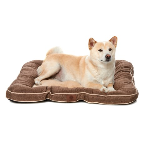 "AKC Burlap Dog Bed - 28x28"" in Brown"