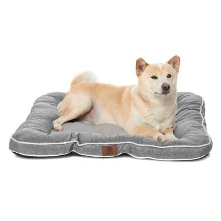 "AKC Burlap Dog Bed - 28x28"" in Gray - Closeouts"