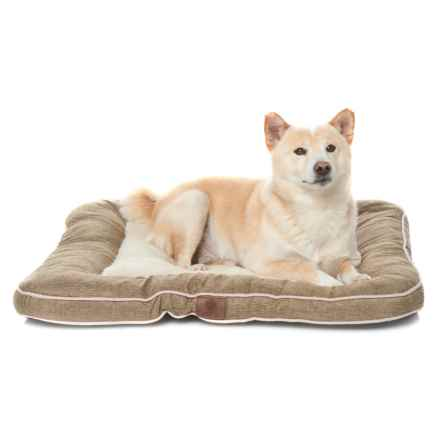 "AKC Burlap Dog Bed - 28x28"" in Tan - Closeouts"