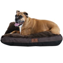"AKC Burlap Gusset Dog Bed - 27x36"" in Brown - Closeouts"