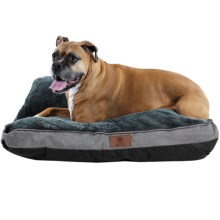 "AKC Burlap Gusset Dog Bed - 27x36"" in Gray - Closeouts"