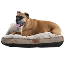 "AKC Burlap Gusset Dog Bed - 27x36"" in Tan - Closeouts"