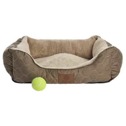 "AKC Circle Stitch Orthopedic Cuddler Dog Bed - 25x21"" in Taupe - Closeouts"