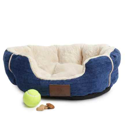 "AKC Clam Cuddler Dog Bed - 22x18"" in Blue - Closeouts"