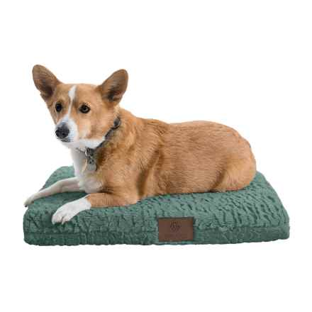 "AKC Deluxe Orthopedic Dog Crate Mat - Medium, 24x19"" in Green - Closeouts"
