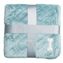 "AKC Diamond-Pattern Pet Throw Blanket - 40x50"" in Baby Blue - Closeouts"