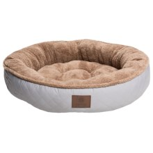 """AKC Diamond-Stitched Dog Bed - 31"""" Round in Gray - Closeouts"""