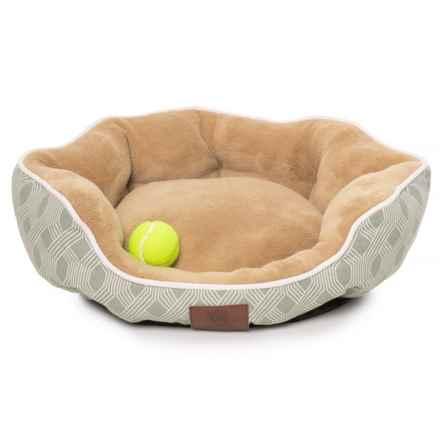 "AKC Diamond Stripe Dog Bed - 23x20"" in Sage - Closeouts"