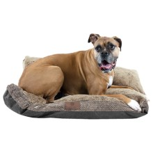 """AKC Fur Texture Gusset Dog Bed - 27x36"""" in Tan - Closeouts"""