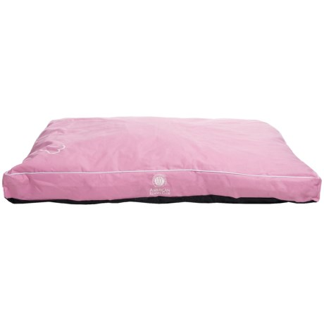"AKC Gusseted Dog Bed - Water- and Chew-Resistant, 35x44"" in Pink"