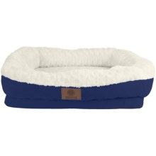 "AKC Orthopedic Box Snuggle Dog Bed - 6x30x32"", Large in Blue/White - Closeouts"