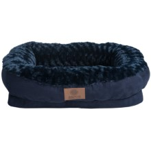 AKC Orthopedic Box Snuggle Dog Bed - Medium in Blue - Closeouts