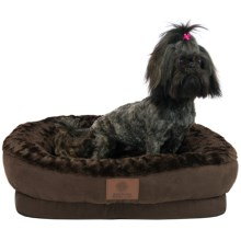 AKC Orthopedic Box Snuggle Dog Bed - Medium in Brown - Closeouts