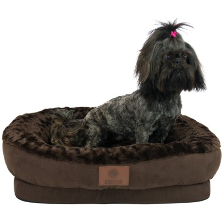 AKC Orthopedic Box Snuggle Dog Bed - Medium in Brown