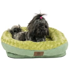 AKC Orthopedic Box Snuggle Dog Bed - Medium in Green - Closeouts