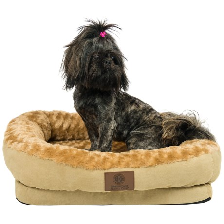 AKC Orthopedic Box Snuggle Dog Bed - Medium in Tan