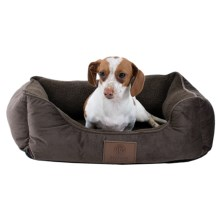 "AKC Orthopedic Burnout Cuddle Dog Bed - 22x18"" in Brown - Closeouts"