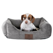 "AKC Orthopedic Burnout Cuddle Dog Bed - 22x18"" in Gray - Closeouts"