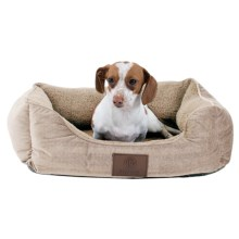 """AKC Orthopedic Burnout Cuddle Dog Bed - 22x18"""" in Tan - Closeouts"""