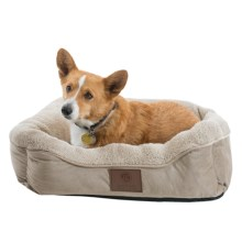 "AKC Orthopedic Burnout Cuddle Dog Bed - Large, 25x21"" in Tan - Closeouts"