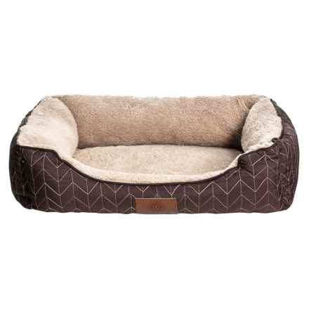 "AKC Orthopedic Herringbone Stitch Cuddler Dog Bed - 22x18"" in Brown - Closeouts"