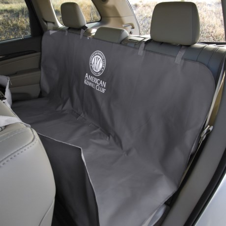 "AKC Pet Car Seat Cover - 59x57"" in Black"