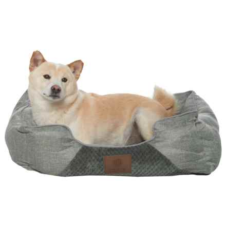 """AKC Pixel and Burlap Orthopedic Dog Bed - 25x21"""" in Gray - Closeouts"""