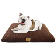 "AKC Pixel Gusset Dog Bed - 27x36"" in Brown - Closeouts"