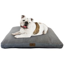 "AKC Pixel Gusset Dog Bed - 27x36"" in Gray - Closeouts"