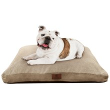 "AKC Pixel Gusset Dog Bed - 27x36"" in Tan - Closeouts"