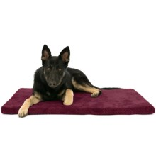 "AKC Pixel Memory-Foam Dog Mat - 42x27"" in Burgundy - Closeouts"