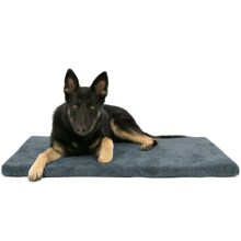 "AKC Pixel Memory-Foam Dog Mat - 42x27"" in Gray - Closeouts"