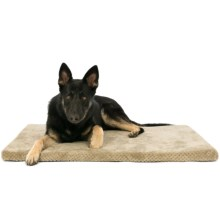 "AKC Pixel Memory-Foam Dog Mat - 42x27"" in Taupe - Closeouts"