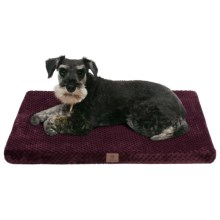 "AKC Pixel Memory-Foam Dog Mat - Large, 30x22"" in Burgundy - Closeouts"