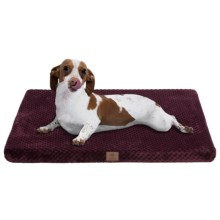 "AKC Pixel Memory-Foam Dog Mat - Medium, 24x19"" in Burgundy - Closeouts"