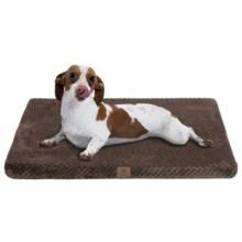 """AKC Pixel Memory-Foam Dog Mat - Medium, 24x19"""" in Chocolate - Closeouts"""