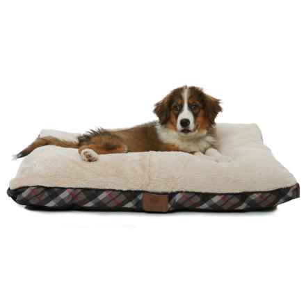 "AKC Plush Dog Bed- 36x27"" in Black - Closeouts"