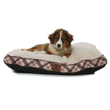 "AKC Plush Dog Bed- 36x27"" in Tan - Closeouts"